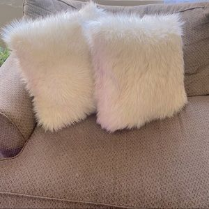 Threshold toss pillow faux fur set of 2 pillows